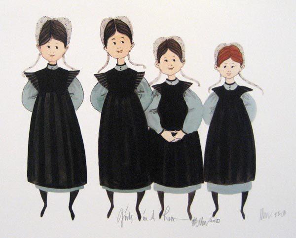 Pat Buckley Moss Girls in a Row
