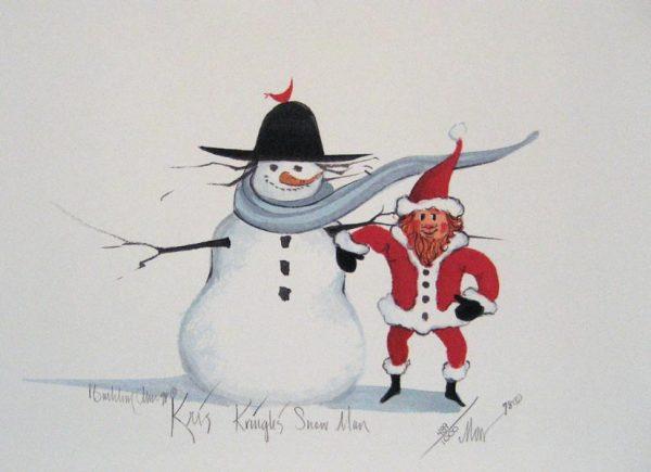 Pat Buckley Moss Kris Kringle's Snow Man