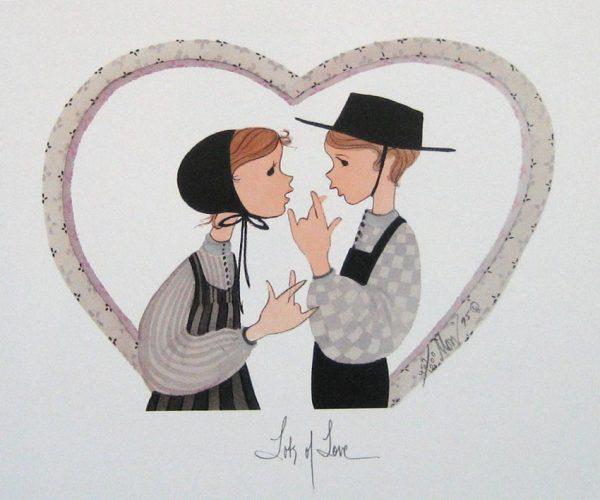 Pat Buckley Moss Lots of Love