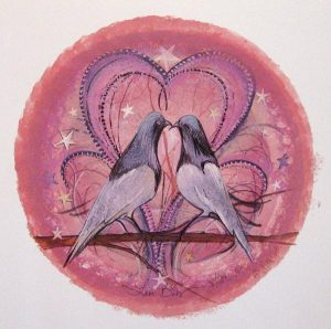 Pat Buckley Moss Love Birds