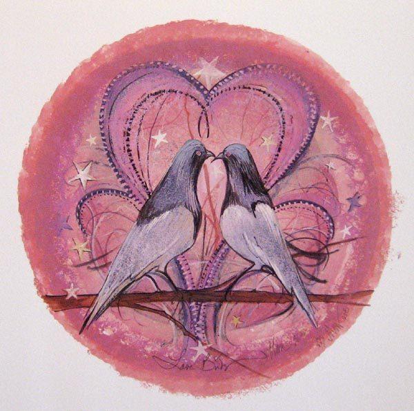 Pat Buckley Moss Love Birds