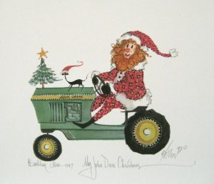 Pat Buckley Moss My John Deere Christmas