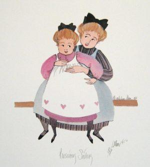 Pat Buckley Moss Precious Sisters