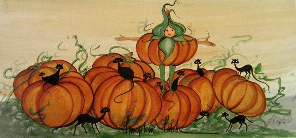 Pat Buckley Moss Pumpkin Patch