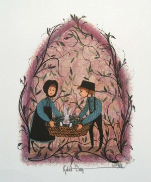 Pat Buckley Moss Rabbit Day