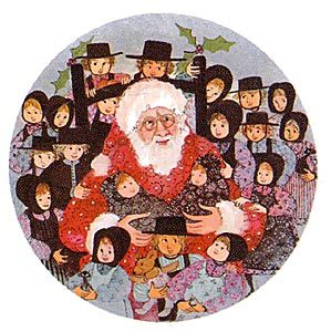 Pat Buckley Moss Santa's Friends