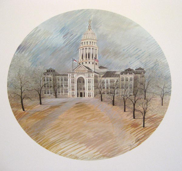 9036bee699a3e Texas State Capital - Rare P. Buckley Moss Prints
