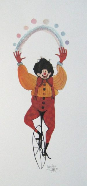 Pat Buckley Moss The Red Clown