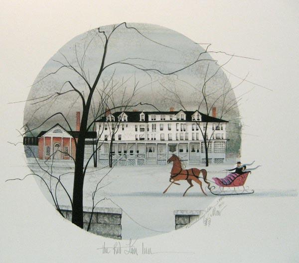 861a2b6f76f6f Red Lion Inn - Rare P. Buckley Moss Prints