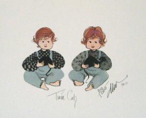 Pat Buckley Moss Twin Cats