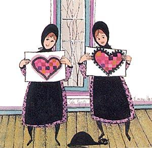 Pat Buckley Moss Twin Hearts