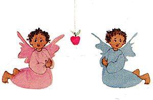 Pat Buckley Moss Two Little Angels