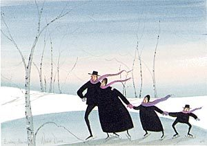 Pat Buckley Moss Winter Dance