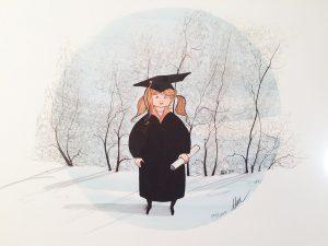 Pat Buckley Moss Graduate Girl