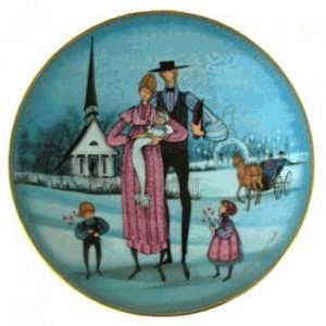 Pat Buckley Moss Plate - The Christening