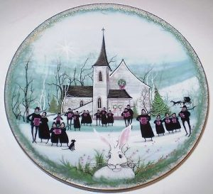 Pat Buckley Moss Plate - Christmas Carol
