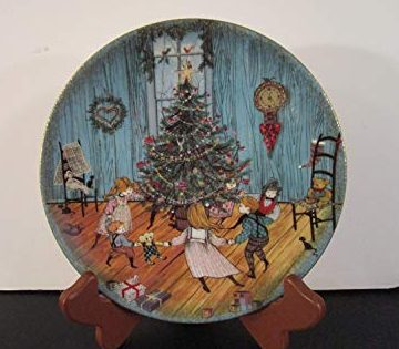 Pat Buckley Moss Plate - Christmas Joy