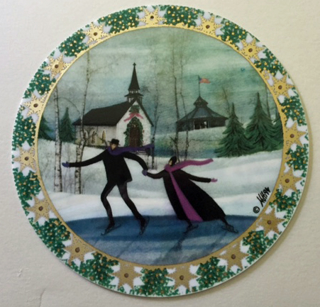 Pat Buckley Moss - Christmas Skaters Ornament