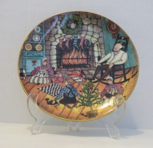 Pat Buckley Moss Plate - Christmas Warmth
