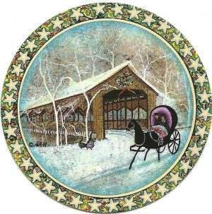 Pat Buckley Moss - Country Ride Ornament