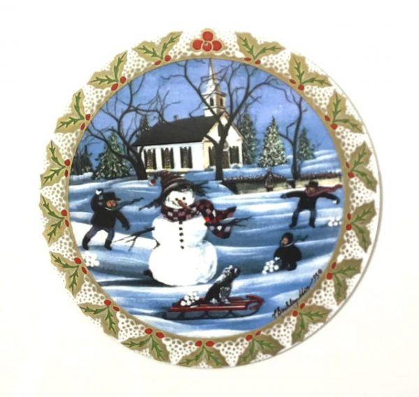 Pat Buckley Moss Frosty the Snowman ornament