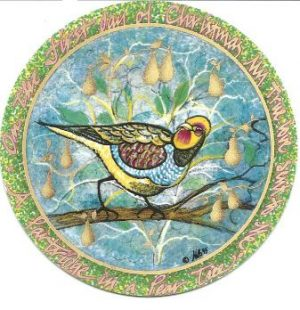 Pat Buckley Moss Partridge in a Pear Tree Ornament