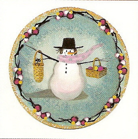 Pat Buckley Moss - Snow Many Baskets Ornament