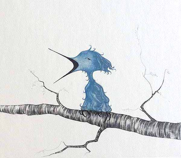 Pat Buckley Moss Etching - Fledgling