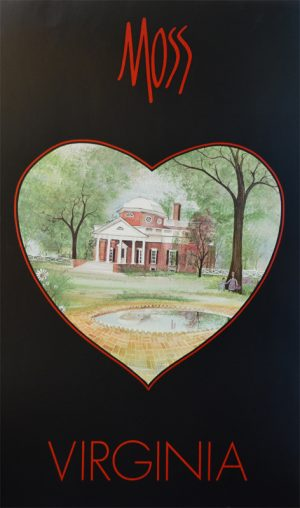 Pat Buckley Moss - Virginia Heart Poster