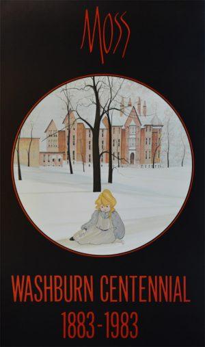 Pat Buckley Moss - Washburn Centennial Poster