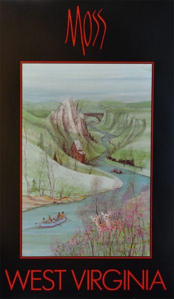 Pat Buckley Moss - West Virginia Poster